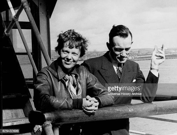 Amelia Earhart and Fred Noonan Honolulu Airport Hawaii March 20 1937