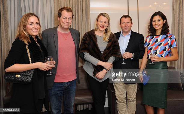 Amelia Freer Tom Parker Bowles Sophie Michell Nick Jenkins and Jasmine Hemsley attends the Samsung Series Drinks at the Beaumont on November 13 2014...