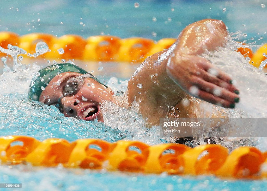 Amelia Gould of Australia competes in the Women's 200m freestyle during day two of the 2013 Australian Youth Olympic Festival at Sydney Olympic Park Aquatic Centre on January 17, 2013 in Sydney, Australia.