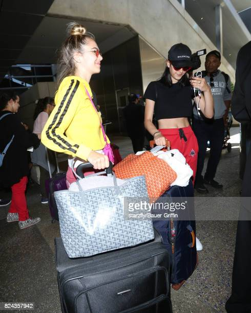 Amelia Gray and Delilah Belle Hamlin are seen at LAX on July 29 2017 in Los Angeles California