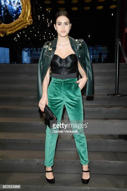 Amelia Gray Hamlin attends the Dolce Gabbana show during Milan Fashion Week Spring/Summer 2018 on September 24 2017 in Milan Italy