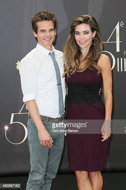 Amelia Heinle and Greg Rikaart attend 'The Young and The Restless' Photocall on June 9 2014 in MonteCarlo Monaco