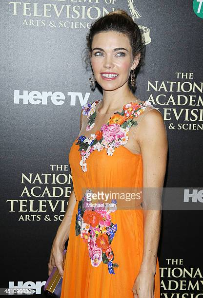 Amelia Heinle arrives at the 41st Annual Daytime Emmy Awards held at The Beverly Hilton Hotel on June 22 2014 in Beverly Hills California