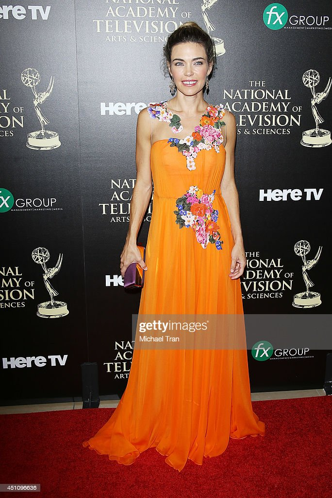 <a gi-track='captionPersonalityLinkClicked' href=/galleries/search?phrase=Amelia+Heinle&family=editorial&specificpeople=3276082 ng-click='$event.stopPropagation()'>Amelia Heinle</a> arrives at the 41st Annual Daytime Emmy Awards held at The Beverly Hilton Hotel on June 22, 2014 in Beverly Hills, California.