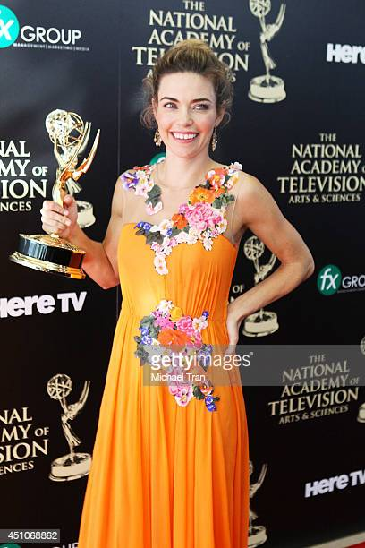 Amelia Heinle attends the 41st Annual Daytime Emmy Awards press room held at The Beverly Hilton Hotel on June 22 2014 in Beverly Hills California