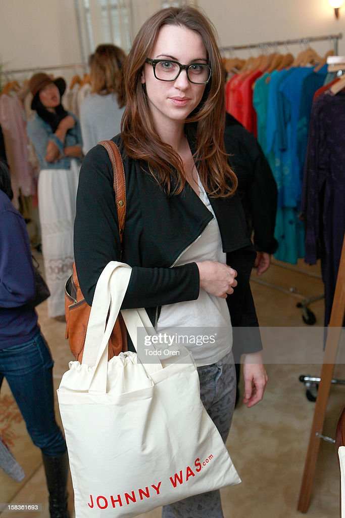 Amelia Hindmarch poses at the Johnny Was Holiday Gifting Suite at Chateau Marmont on December 13, 2012 in Los Angeles, California.