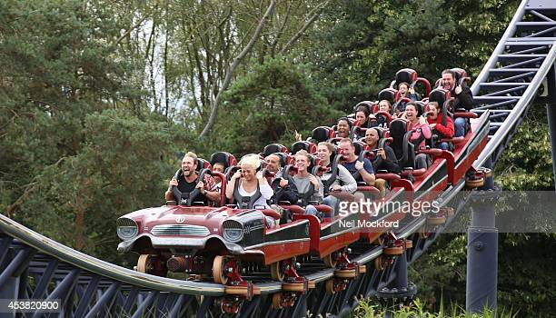 Amelia Lily and Steve Rushton are spotted at Thorpe Park on August 19 2014 in Chertsey England It looks like the couple have cemented their...