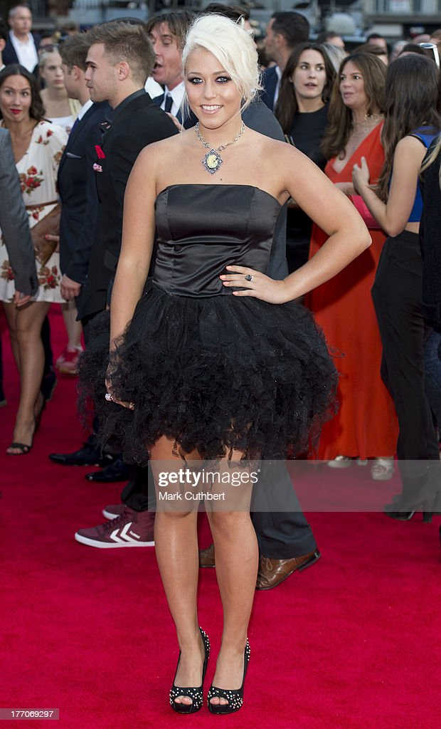 <a gi-track='captionPersonalityLinkClicked' href=/galleries/search?phrase=Amelia+Lily&family=editorial&specificpeople=8378189 ng-click='$event.stopPropagation()'>Amelia Lily</a> attends the World Premiere of 'One Direction: This Is Us' at Empire Leicester Square on August 20, 2013 in London, England.