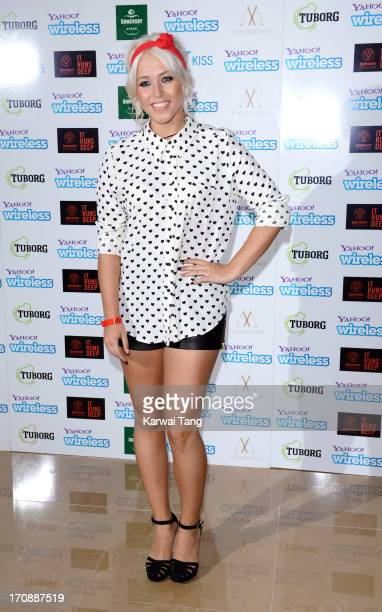 Amelia Lily attends the Yahoo Wireless preparty at The Mayfair Hotel on June 19 2013 in London England