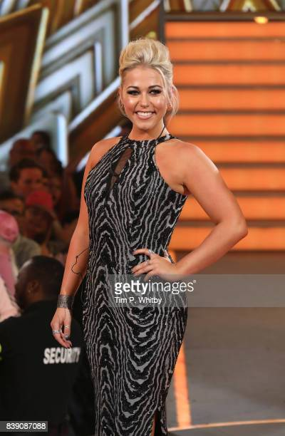 Amelia Lily leaves the house after being evicted during the Celebrity Big Brother Final at Elstree Studios on August 25 2017 in Borehamwood England