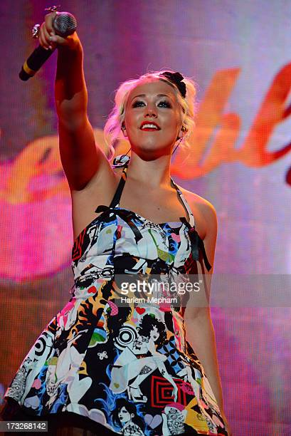 Amelia Lily performs at Radio One's Rock Assembly at Wembley Arena on July 10 2013 in London England