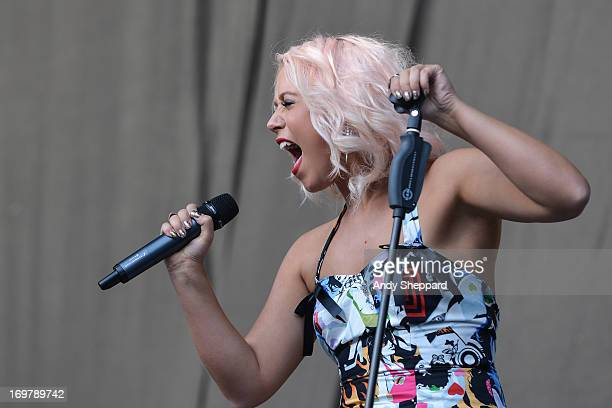 Amelia Lily performs on stage at Allstarz Summer Party 2013 at Madejski Stadium on June 1 2013 in Reading England