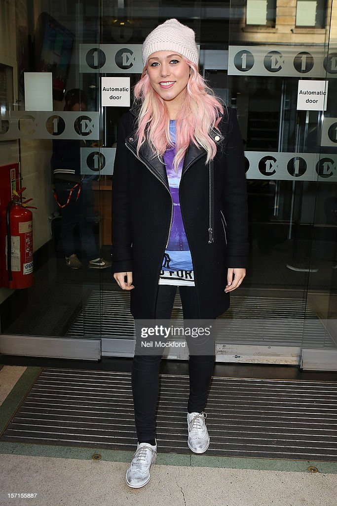 Amelia Lily seen at BBC Radio One on November 29, 2012 in London, England.