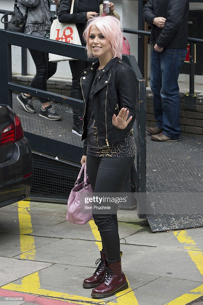 Amelia Lily sighted departing ITV Studios on April 26, 2013 in London, England.