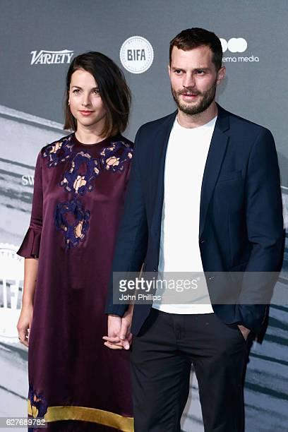 Amelia Warner and Jamie Dornan attend The British Independent Film Awards at Old Billingsgate Market on December 4 2016 in London England