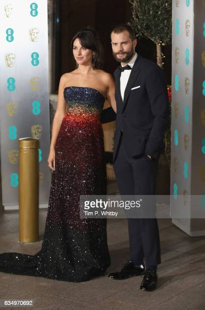 Amelia Warner and Jamie Dornan attend the official after party for the 70th EE British Academy Film Awards at The Grosvenor House Hotel on February...