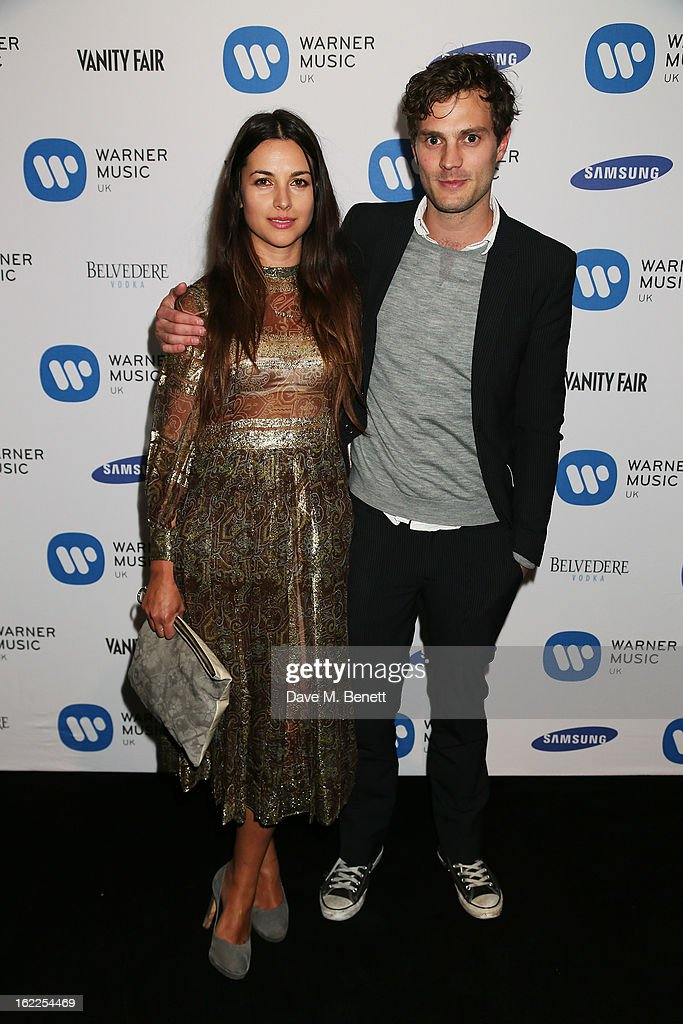 <a gi-track='captionPersonalityLinkClicked' href=/galleries/search?phrase=Amelia+Warner&family=editorial&specificpeople=814059 ng-click='$event.stopPropagation()'>Amelia Warner</a> and <a gi-track='captionPersonalityLinkClicked' href=/galleries/search?phrase=Jamie+Dornan&family=editorial&specificpeople=243194 ng-click='$event.stopPropagation()'>Jamie Dornan</a> attend the Warner Music Group Post BRIT Party In Association With Samsung at The Savoy Hotel on February 20, 2013 in London, England.