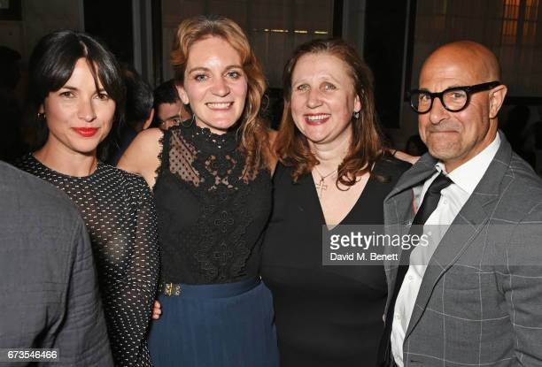 Amelia Warner Felcity Blunt Angela Hartnett and Stanley Tucci attend the launch of The Ned London on April 26 2017 in London England