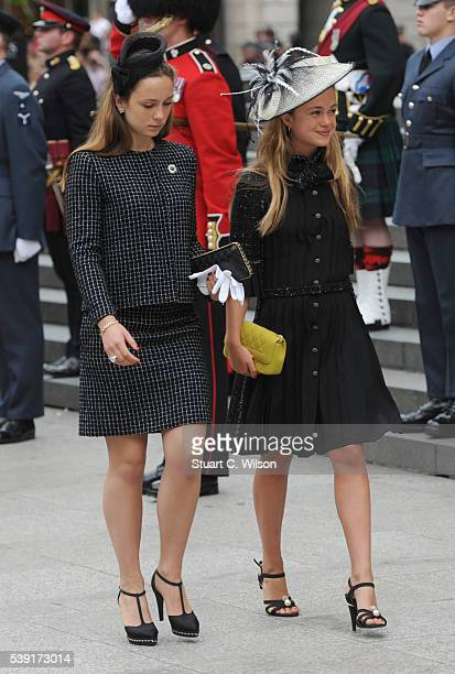 Amelia Windsor attends a National Service of Thanksgiving as part of the 90th birthday celebrations for The Queen at St Paul's Cathedral on June 10...