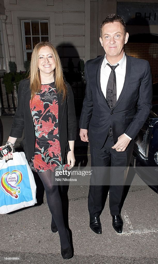 Amelia Wright and Matthew wright sighting at Claredges hotel on March 28, 2013 in London, England.
