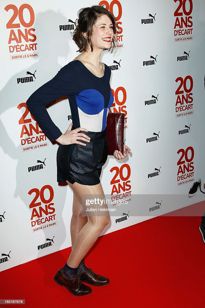 Amelie Glenn attends '20 Ans D'Ecart' Premiere at Gaumont Capucines on March 5, 2013 in Paris, France.