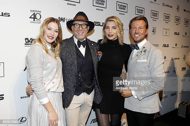 Amelie Klever Thomas Rath Giulia Siegel and Sandro Rath attend the Thomas Rath after party during Platform Fashion January 2017 at Areal Boehler on...