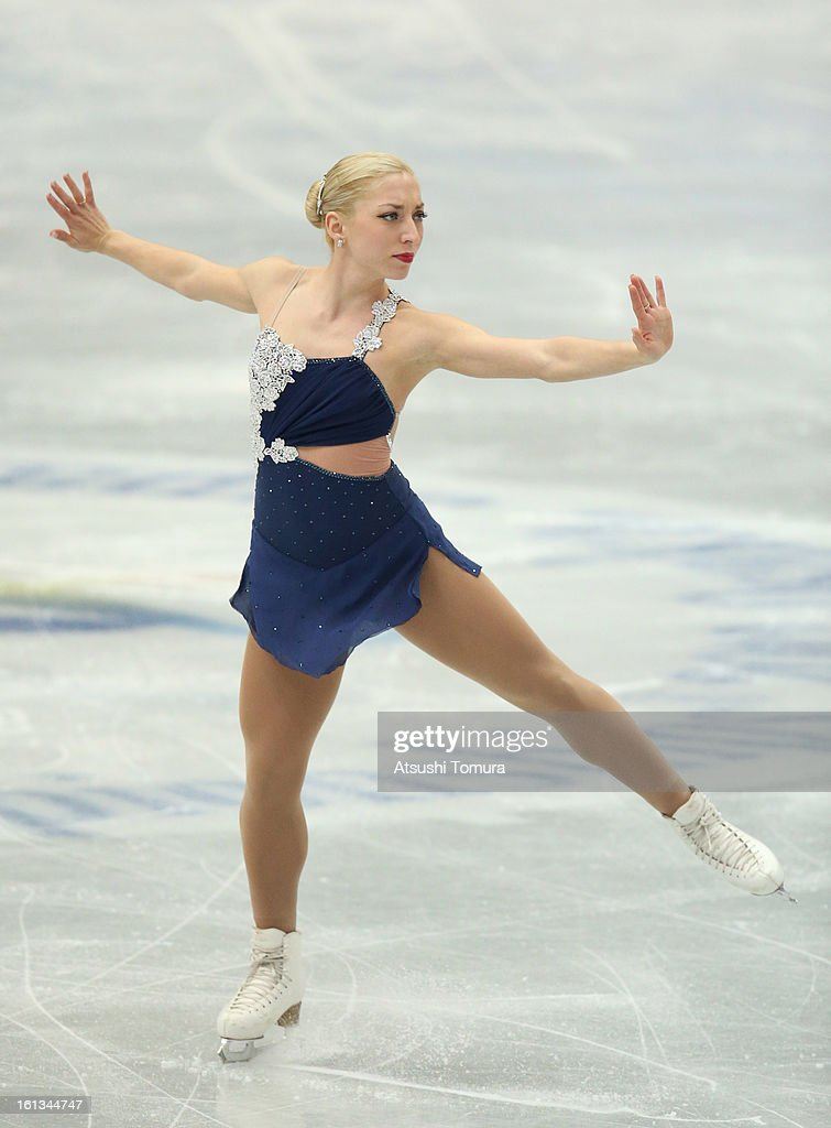 Amelie Lacoste of Canada competes in the Women's Free Skating during day three of the ISU Four Continents Figure Skating Championships at Osaka Municipal Central Gymnasium on February 10, 2013 in Osaka, Japan.