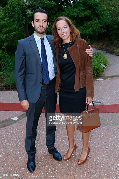 Amelie Marcilhac and Lucas Ratton attend 'Friends of Quai Branly Museum Society' dinner party at Musee du Quai Branly on September 9 2013 in Paris...