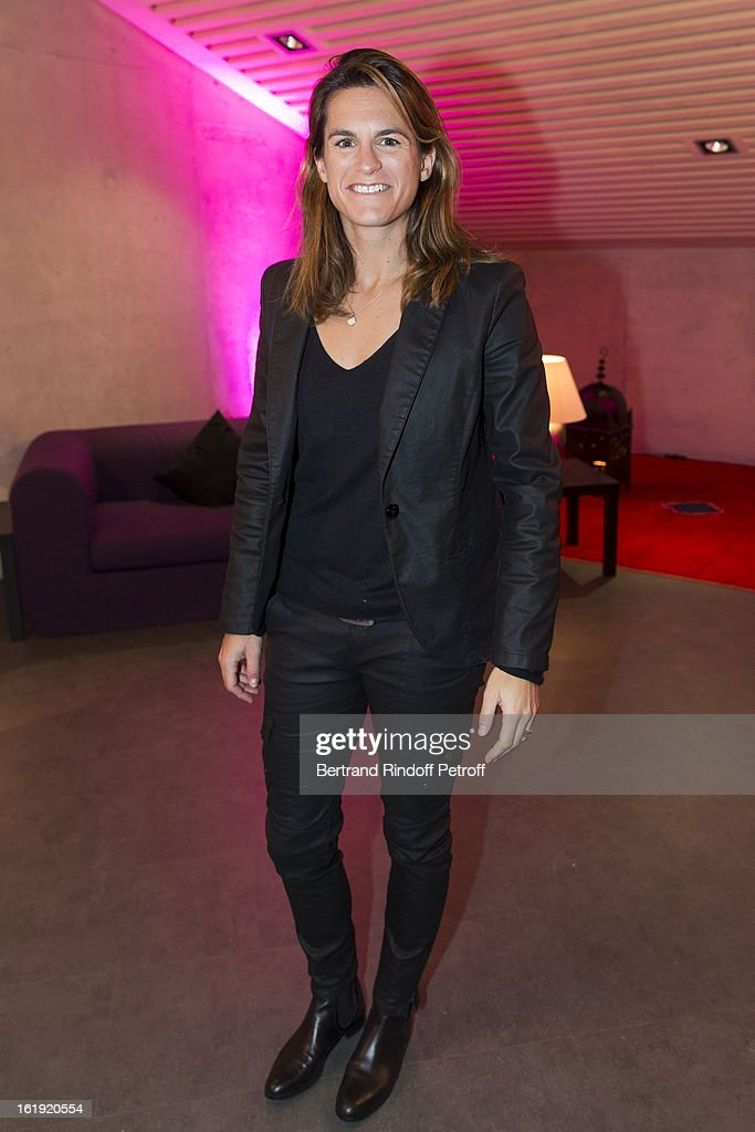 Amelie Mauresmo, ambassador of the 'Sport for Life' foundation, attends the 30th edition of 'La Nuit Des Neiges' Charity Gala on February 16, 2013 in Crans-Montana, Switzerland.