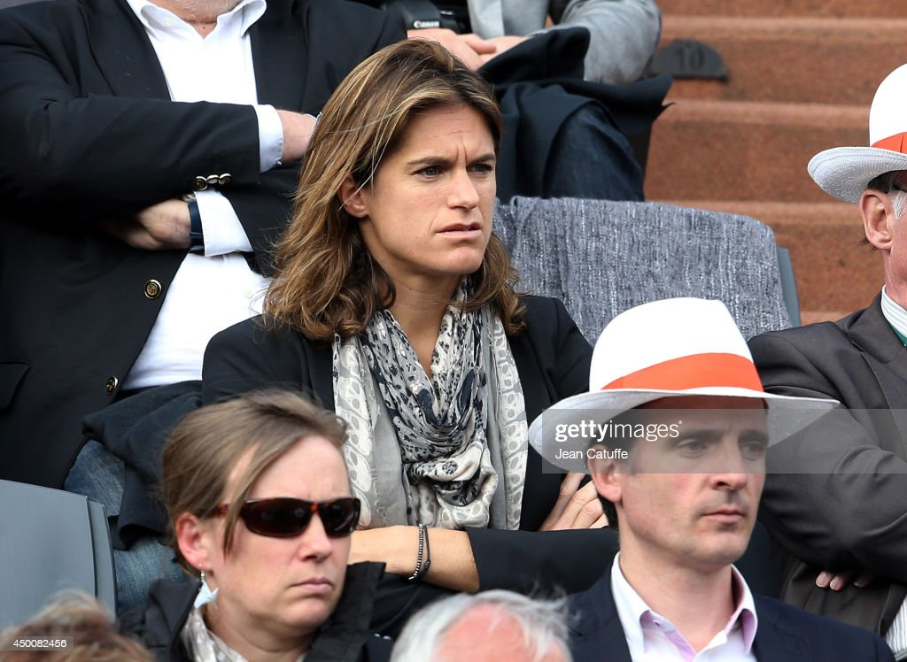 Amelie Mauresmo attends Day 11 of the French Open 2014 held at Roland-Garros stadium on June 4, 2014 in Paris, France.