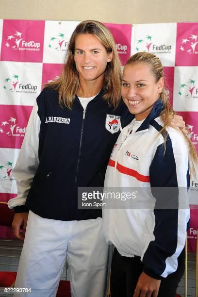 Amelie MAURESMO / Dominika CIBULKOVA Fed Cup Conference de Presse Limoges