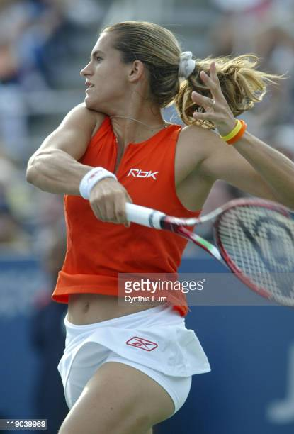 Amelie Mauresmo during a second round match against Meghann Shaughnessy at the 2006 US Open at the USTA National Tennis Center in Flushing Queens NY...