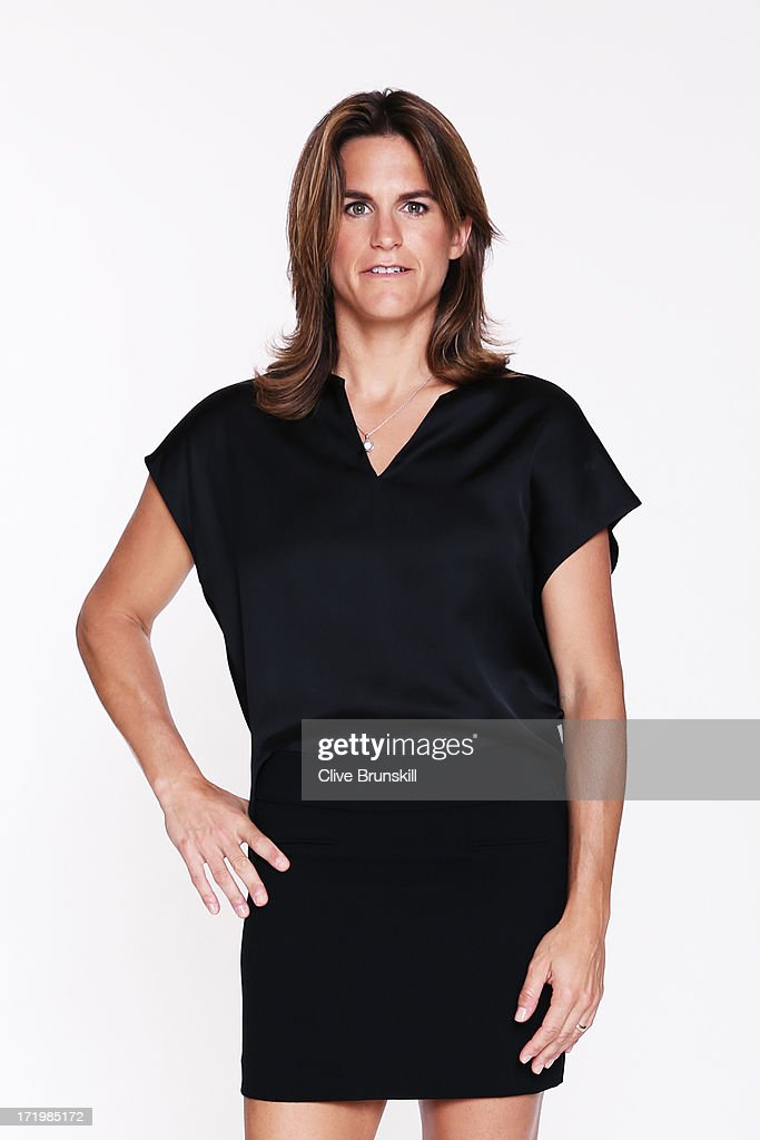 This image has been retouched) Amelie Mauresmo poses for an exclusive photoshoot during the WTA 40 Love Celebration on Middle Sunday of the Wimbledon Lawn Tennis Championships at the All England Lawn Tennis and Croquet Club at Wimbledon on June 30, 2013 in London, England.