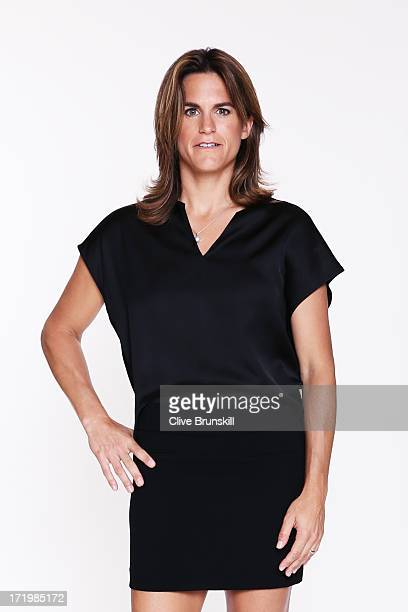 Amelie Mauresmo poses for an exclusive photoshoot during the WTA 40 Love Celebration on Middle Sunday of the Wimbledon Lawn Tennis Championships at...