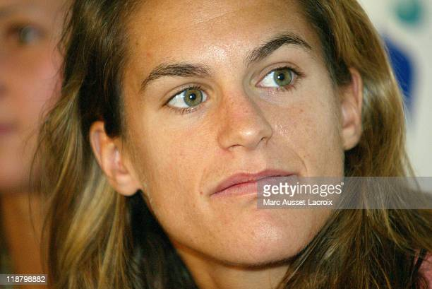 Amelie Mauresmo's first press conference since winning the 2006 Australian Open at the Paris Stade Coubertin in Paris France on February 5 2006