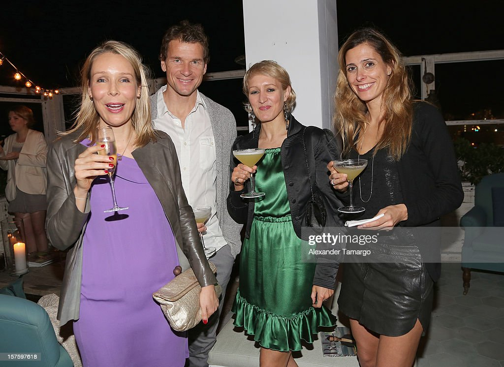Amelie von Wedel, Jens Lehmann, Isabella Macpherson and Conny Lehmann attend the Baku Magazine Party at Soho Beach House during Miami Art Basel on December 4, 2012 in Miami Beach, Florida. Baku Magazine is dedicated to promoting contemporary art and culture in Azerbaijan.