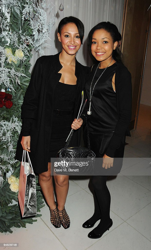 Amelle Berrabah and Dionne Bromfield attend the VIP reception to launch the English National Ballet Christmas season ahead of the performance of 'The Nutcracker', at the St Martins Lane Hotel on December 16, 2009 in London, England.