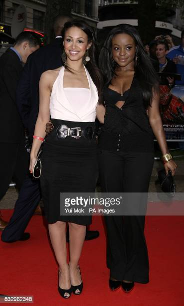 Amelle Berrabah and Keisha Buchanan of Sugababes arrive for the UK Gala Premiere of Spiderman 3 at the Odeon Cinema in Leicester Square central...