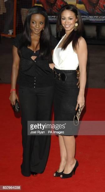 Amelle Berrabah and Keisha Buchanan of The Sugababes arrives for the Gala UK Premiere of SpiderMan 3 at the Odeon Cinema in Leicester Square central...