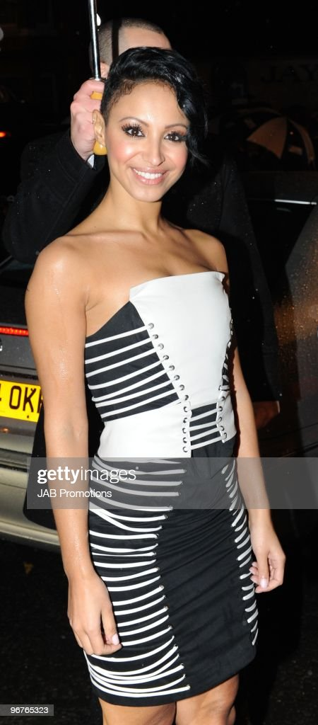 Amelle Berrabah arrives for The Brit Awards 2010 at Earls Court on February 16 2010 in London England