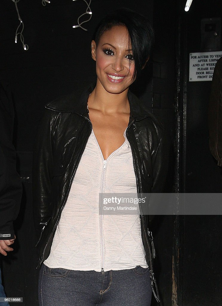 Amelle Berrabah arrives for the Flight Cervical Cancer in Style event at KOKO on January 27 2010 in London England