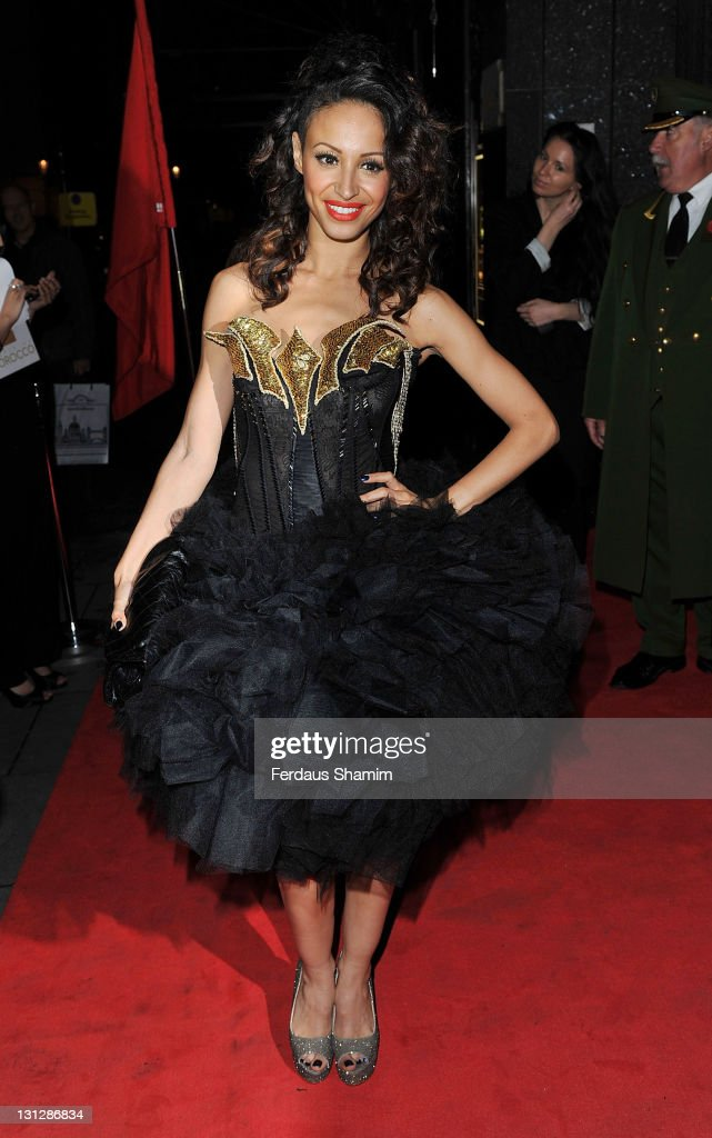 Amelle Berrabah attends the launch of Harrods Morcoccan Transformation at Harrods on November 3 2011 in London England