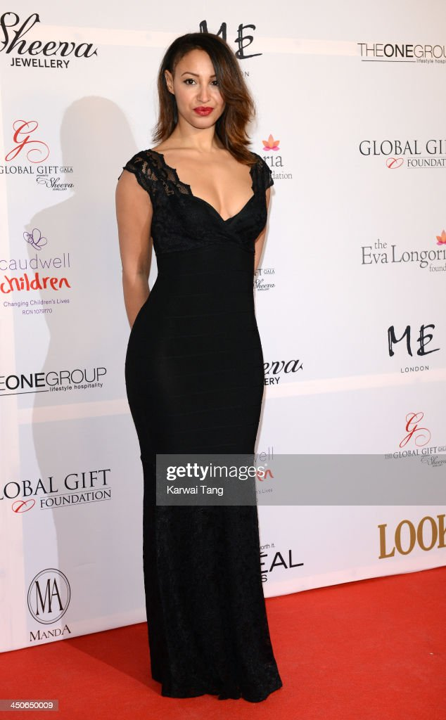 Amelle Berrabah attends the London Global Gift Gala at ME Hotel on November 19, 2013 in London, England.
