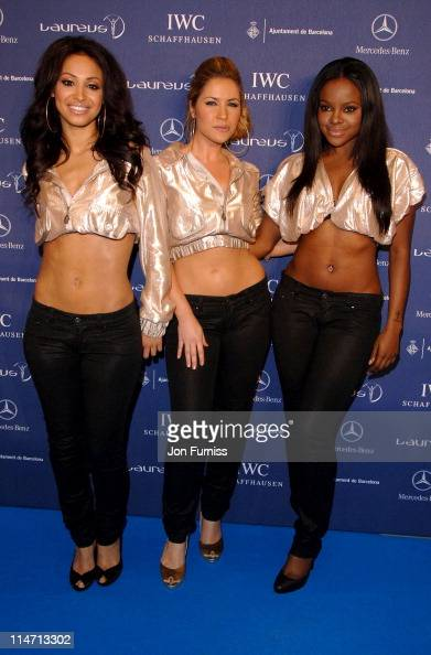 Amelle Berrabah Heidi Range and Keisha Buchanan of the Sugababes