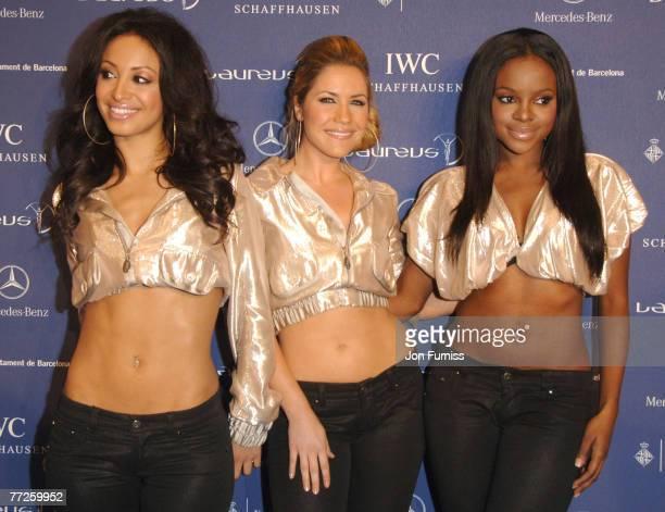 Amelle Berrabah Heidi Range and Keisha Buchanan of the Sugababes