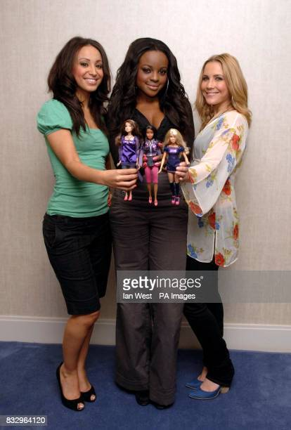 Amelle Berrabah Keisha Buchanan Heidi Range of the Sugababes attend a photocall to launch their collaboration with toy manufacturer Mattel to create...