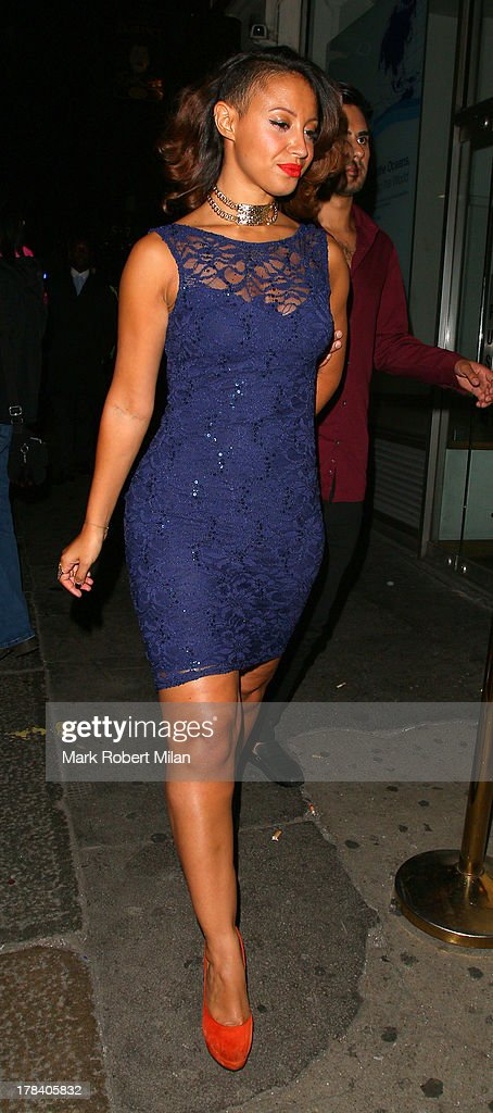 Amelle Berrabah leaving Mahiki night club on August 29, 2013 in London, England.