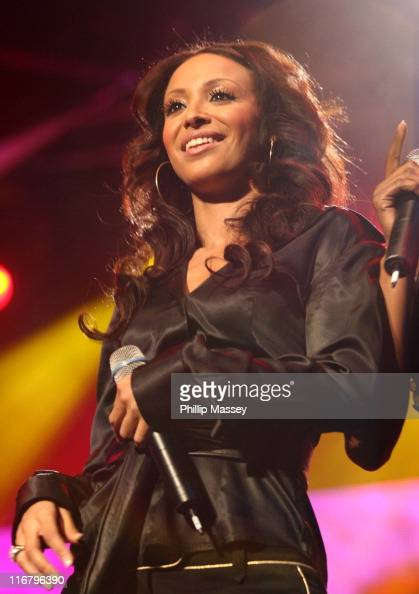 Amelle Berrabah of Sugababes during Cherrios Childline Concert January 28 2007 at The Point in Dublin Ireland