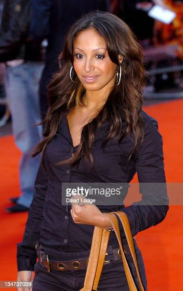 Amelle Berrabah of Sugababes during 'Stormbreaker' London Premiere at Vue West End in London Great Britain