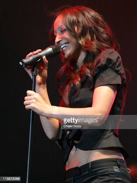 Amelle Berrabah of the Sugababes during 2006 British International Motor Show Dock Rock MusicSugababes Concert at ExCeL in London Great Britain